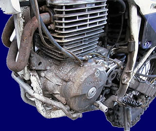 foto: moto - oxidada